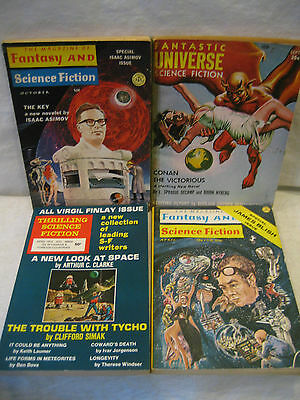 FANTASY and SCIENCE FICTION pulp collection Arthur C Clarke Isaac Asimov Sci-Fi