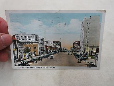 Topeka Kansas Downtown Pelletier's Department Store Vintage Postcard
