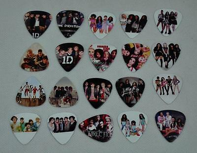 Lots of 20pcs New Guitar Picks Collection 1D One Direction Little Mix Pop Bands