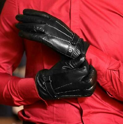 Men's 360° Smart Touch Screen Winter Gloves Artificial Leather Fleece Lined