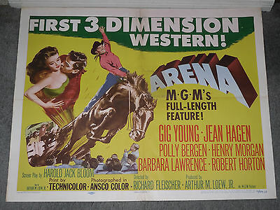 LA FIESTA DE LOS VAQUEROS TUCSON RODEO original 1953 movie poster 3 DIMENSION/3D