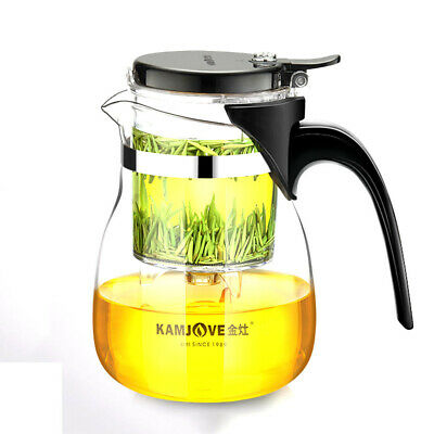 KAMJOVE TP-757 Glass Gongfu Teapot 700ml 23.7oz with Infuser Mug