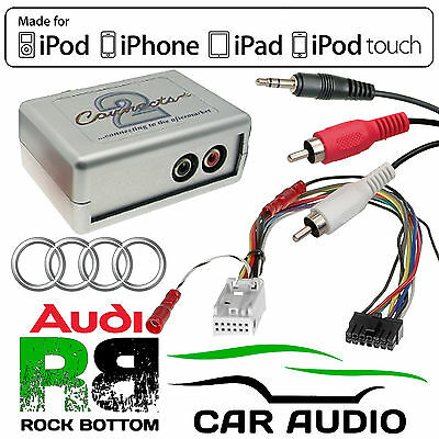 CTVADX002 Audi A3 2003 - 2013 Car Aux In Input MP3 iPhone iPod Interface Adaptor
