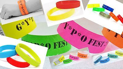 Custom Printed Wristbands,plain,waterproof,childrens,nightclub bands,parties,id,