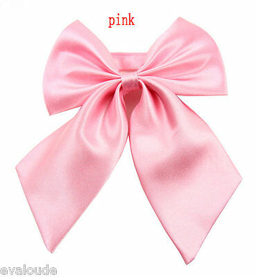 Baby Light Pink Ladies Fashion Satin Style Bow Knot Neck Tie Cravat Casual Party