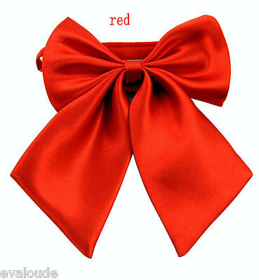 Bright Hot Red Ladies Fashion Satin Style Bow Knot Neck Tie Cravat Casual Party
