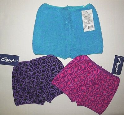 NWT Capezio Sweater BOOTY SHORTS ADULT NTGSHRT multiple colors and sizes