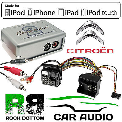 CTVPGX011 Citroen C4 2006 - 2013 Car Aux In MP3 iPhone iPod Interface Adaptor
