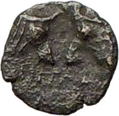 Pergamon in Asia Minor 300BC Very rare  Greek Coin Athena Cult Bulls  i28077