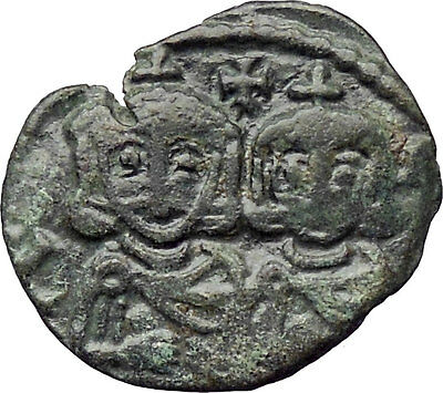Constantine V Copronymus & Leo IV & Leo III 741AD Ancient Byzantine Coin i30262