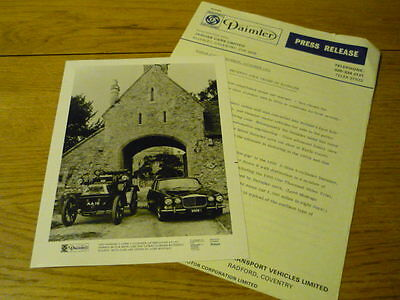 DAIMLER 75 YEAR ANNIVERSARY PRESS RELEASE Brochure Related jm