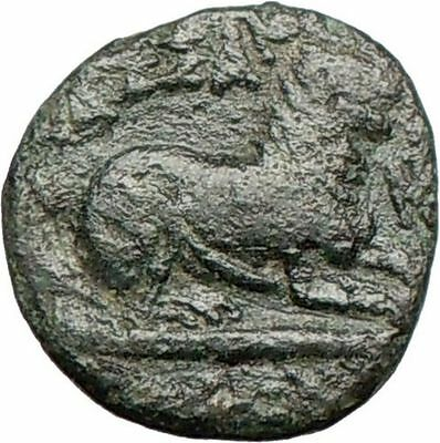 KASSANDER Killer of Alexander the Great son RARE Ancient Greek Coin LION  i25270