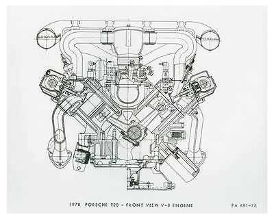 1978 Porsche 928 Front View V8 Engine Automobile Factory Photo ch3652