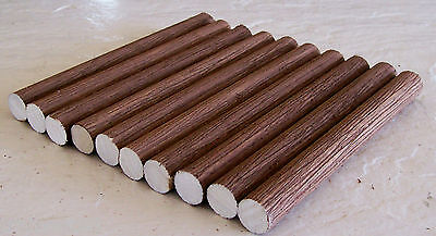 "Lionel- Very Beautifully  Detailed 10 Log Set ~ 5/8"" R x 6"" L-Real Wood Logs"