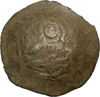 JOHN II Comnenus 1118AD Rare Billon Large Byzantine Ancient Coin CHRIST i17650