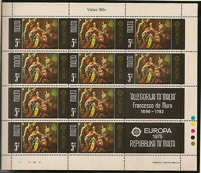 MALTA : 1975 Europa sheetlets SG543-4  unmounted mint