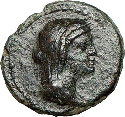 MENAINON Sicily  Demeter Cult  Torches Emblem of hope Ancient Greek Coin  i24273