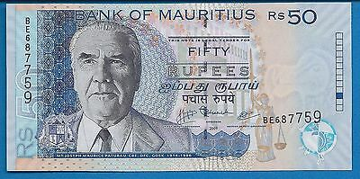Mauritius P-50 Fifty Rupees Year 2009 Unc. Banknote Africa