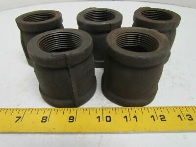 "1-1/2x1-1/4"" NPT Malleable Iron Black Pipe Reducer Class 150 USA Lot of 5"