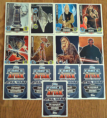 Force Attax Movie Card Serie 1 *alle 192 Basiskarten komplett* Star Wars Neu