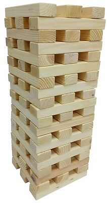 60 Blocks Giant 1.2M Wooden Jenga Tower Indoors Outdoors Party Garden Game