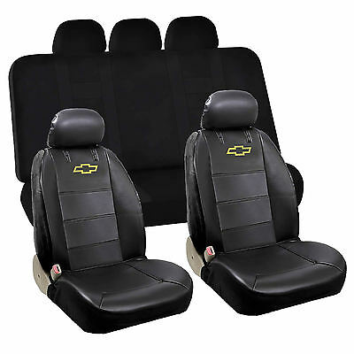 6pcs Chevy Chevrolet Front Low Back Seat Cover Rear Bench Seat Cover Set