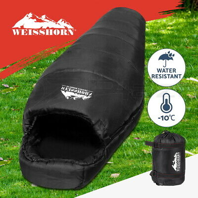 WEISSHORN Camping Envelope Sleeping Bag -10°C Single Thermal Tent Hiking Blue