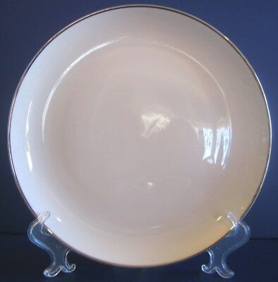 Dinner Plate Prince Royal Fine China Japan Bright White Platinum Trim 1950's 60s