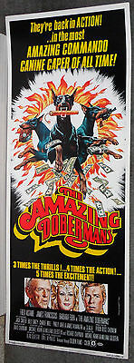 THE AMAZING DOBERMANS original1976 ROLLED movie poster BARBARA EDEN/FRED ASTAIRE