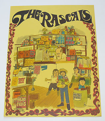 The Young Rascals Original 1968 Poster Canned Heat Cream Blue Cheer Turtles