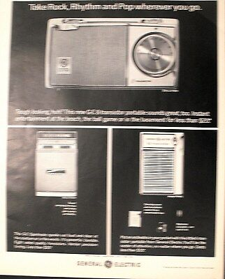 1964 General Electric G-E 8-Transistor Portable-Sportmate Radio Model P856 Ad