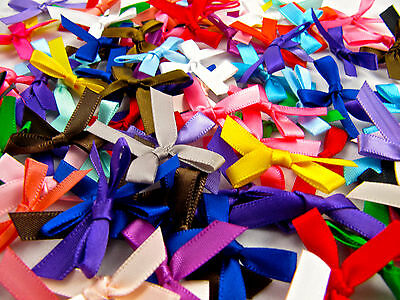 Satin Ribbon Bows, Assorted Colours and Quantities, Double Sided Satin