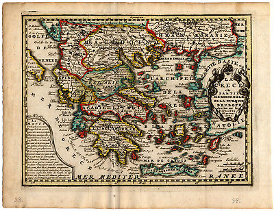 Antique Map-GREECE-EUROPEAN TURKEY-de Missy-de Leth-1749