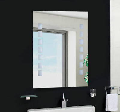 LED Illuminated Bathroom Mirror with Switch Toilet Wall Light Makeup White New