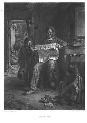 VICTORIAN NAUGHTY BOYS & DAD GrOuNdEd Vintage Antique Art Print