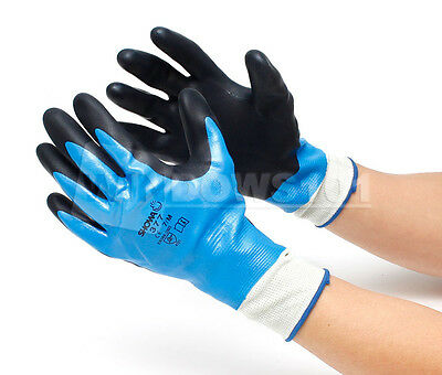 12-Pairs Atlas 377 Fully Dipped Nitrile Coated Foam Grip X-Large XL Work Gloves