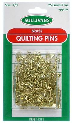 Brass Quilting Safety Pins Size 000