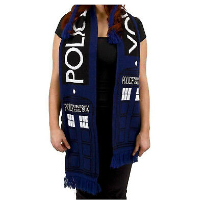 Doctor Dr. WHO TARDIS Police Call Box 6.5 Foot DELUXE SCARF Licensed NEW