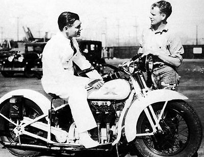 1931 Clark Gable Hell Divers Henderson Motorcycle Photo J503