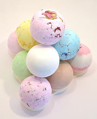 Bath Bomb Pyramid - 10 x 65g Mothers day gift made by bee beautiful