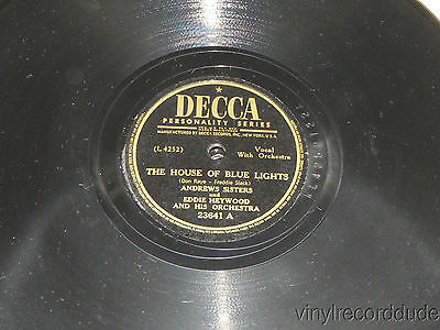 THE ANDREWS SISTERS House Of Blue Lights/ Man is a Brother to a Mule DECCA 23641