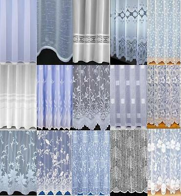 CHEAP VOILE NET CURTAINS SLOT TOP Many Designs Sold by the Meter Special Drops