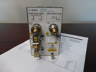 Agilent 54754A Differential & Single Ended TDR/TDT Module 86100 A B C D - Cal'd!