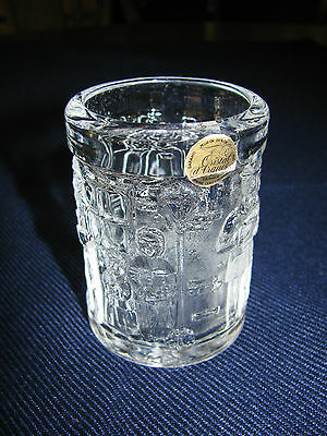 Cristal D'Arques Christmas Carolers Votive Candle Holder NM Free Ship in USA