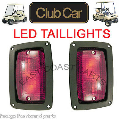 Club Car 1982-Newer DS Golf Cart LED Tail Light Kit, 2 LED 3 WireTaillights