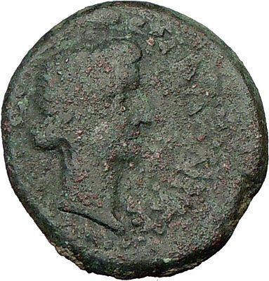 TIBERIUS & LIVIA wife of Augustus 22AD Thessalonica Ancient Roman Coin i21957
