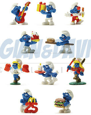 McDonald's MCDONALDS HAPPY MEAL SERIE COMPLETA - 10 PUFFI 1996 PUFFO SMURF