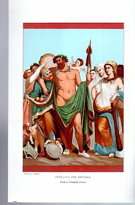 Color Roman Hercules Omphale Pompeii Antique Art Print