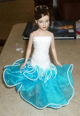 White,Strapless Gown for Tiny Kitty Doll