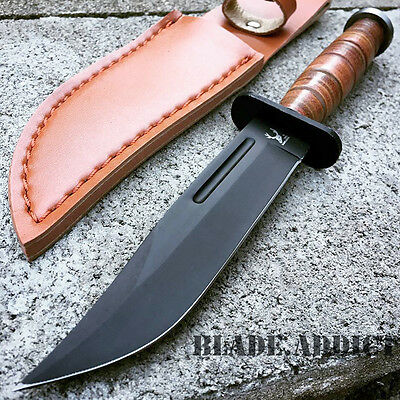 "9"" Tactical Combat Survival Fixed Blade Hunting Knife w/ Sheath Bowie 6812-"